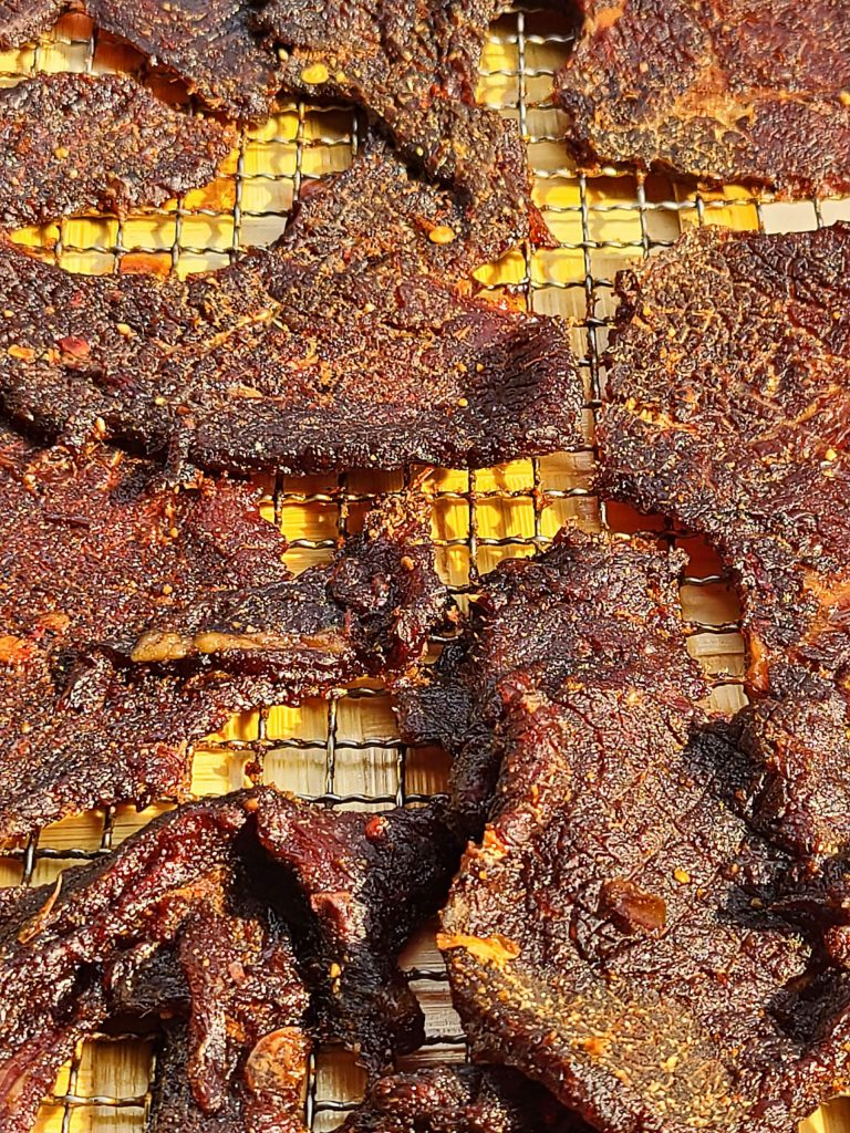 Beef jerky marinated in Vietnamese spices echo the familiar flavors of Bamboo Bear. Chef-owner Vinnie Bagford has ramped up production of the dehydrated snacks since the coronavirus crisis, selling quarter-pound bags for $12.