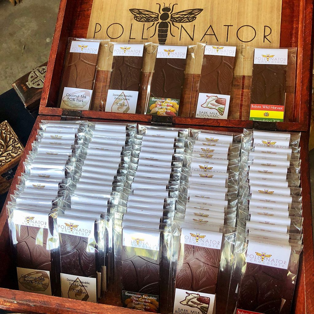 Pollinator Chocolate boasts 17 varieties of bean-to-bar confections, including some infused with local ingredients.