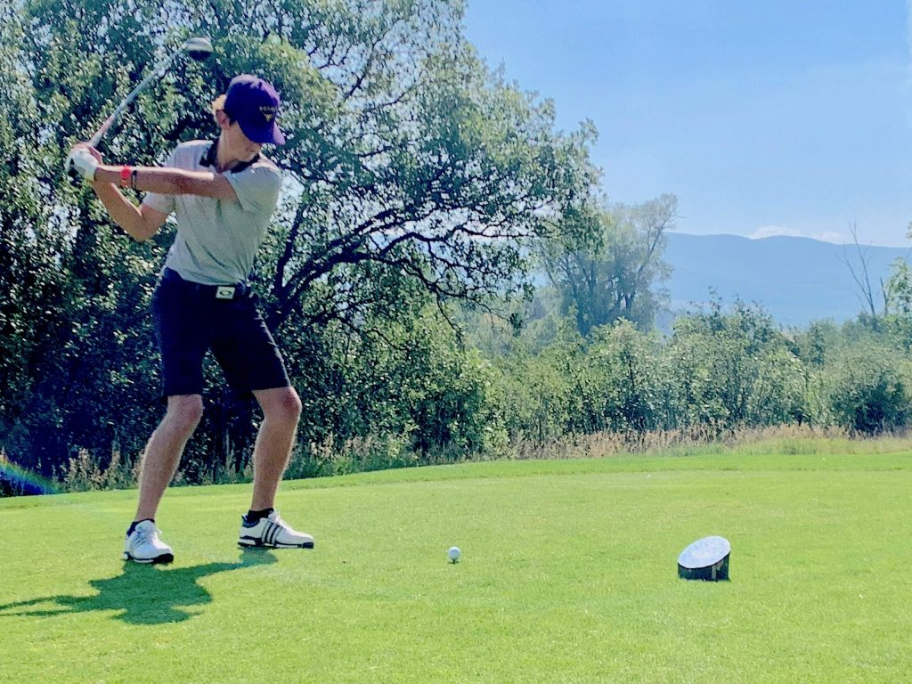 Basalt High School's Tyler Sims competes on Tuesday, Aug. 18, 2020, at River Valley Ranch in Carbondale.