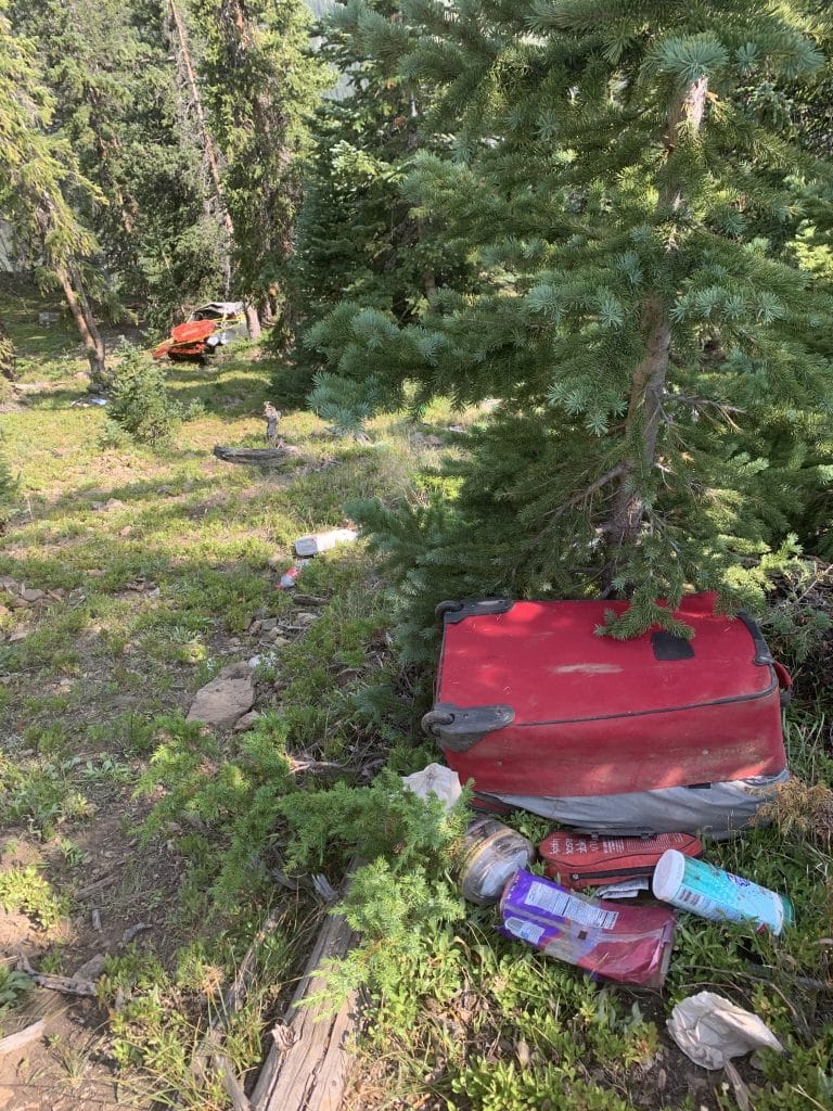 A car that tumbled nearly 500 feet off Independence Pass near the summit late Thursday night. Two women in the vehicle were airlifted to area hospitals.