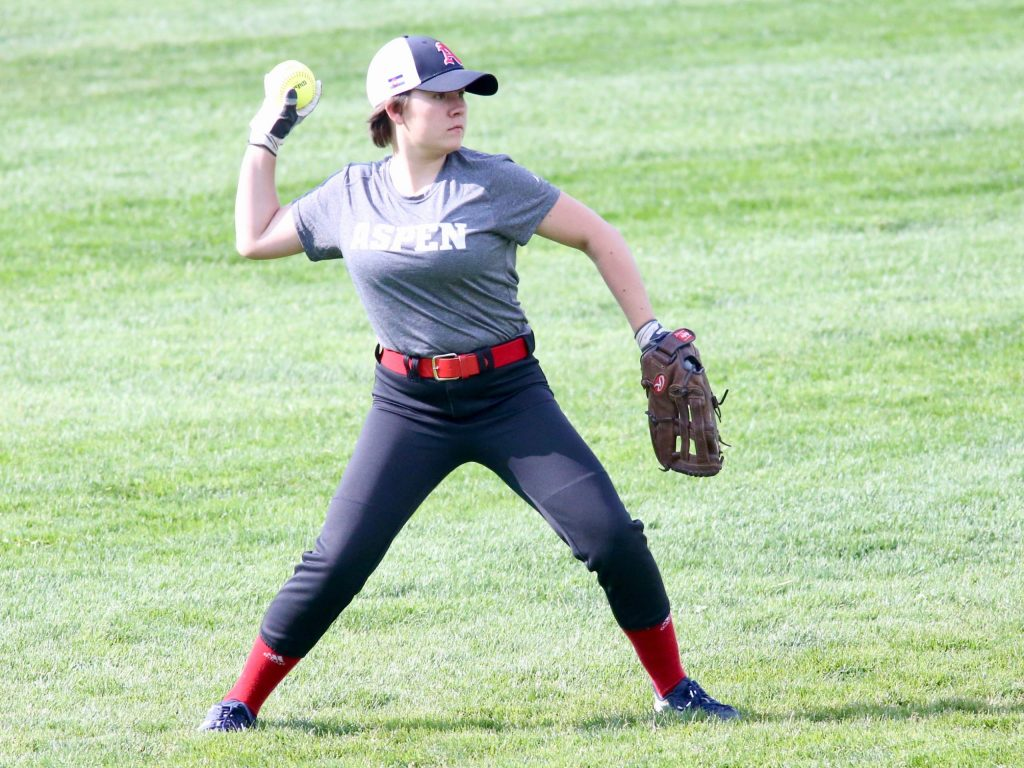 Basalt High School softball plays at Aspen on Tuesday, Aug. 25, 2020, at Upper Moore Field. (Photo by Austin Colbert/The Aspen Times)