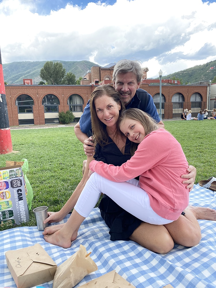 Palm Beach trio David, Rachel and Laing Supple visiting friends in Aspen in July.