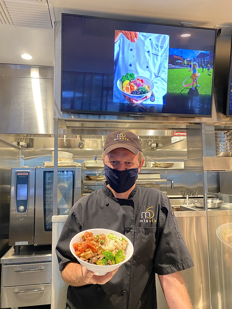 Local chef Martin Oswald at his restaurant Mix Six in Snowmass.