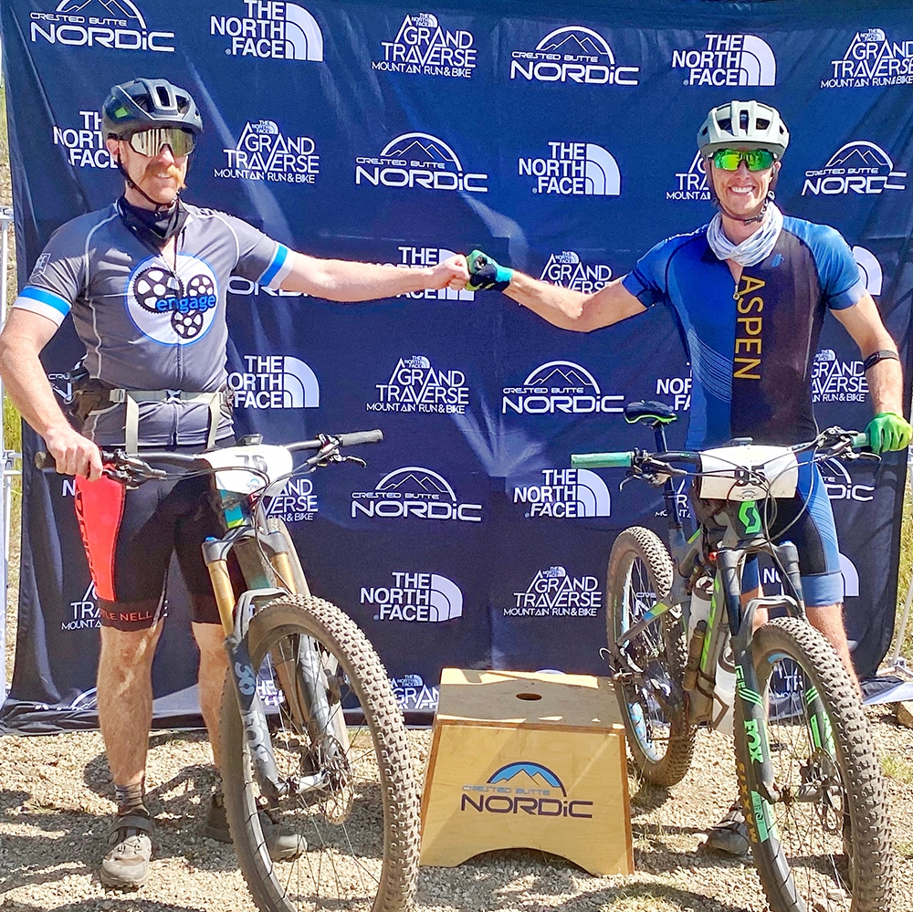 Fit friends Eddie Brackett and Jonathan Fillman after the Crested Butte Mountain Bike on September 6.