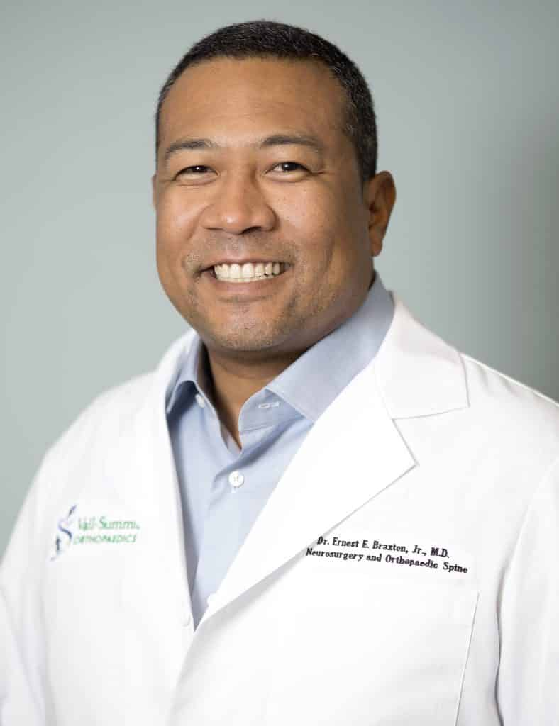 Dr. Ernest Braxton is a Board Certified Neurosurgeon at Vail Summit Orthopaedics who specializes in brain tumors, neurotrauma, and complex and minimally invasive outpatient spine surgery and artificial disc technology.
