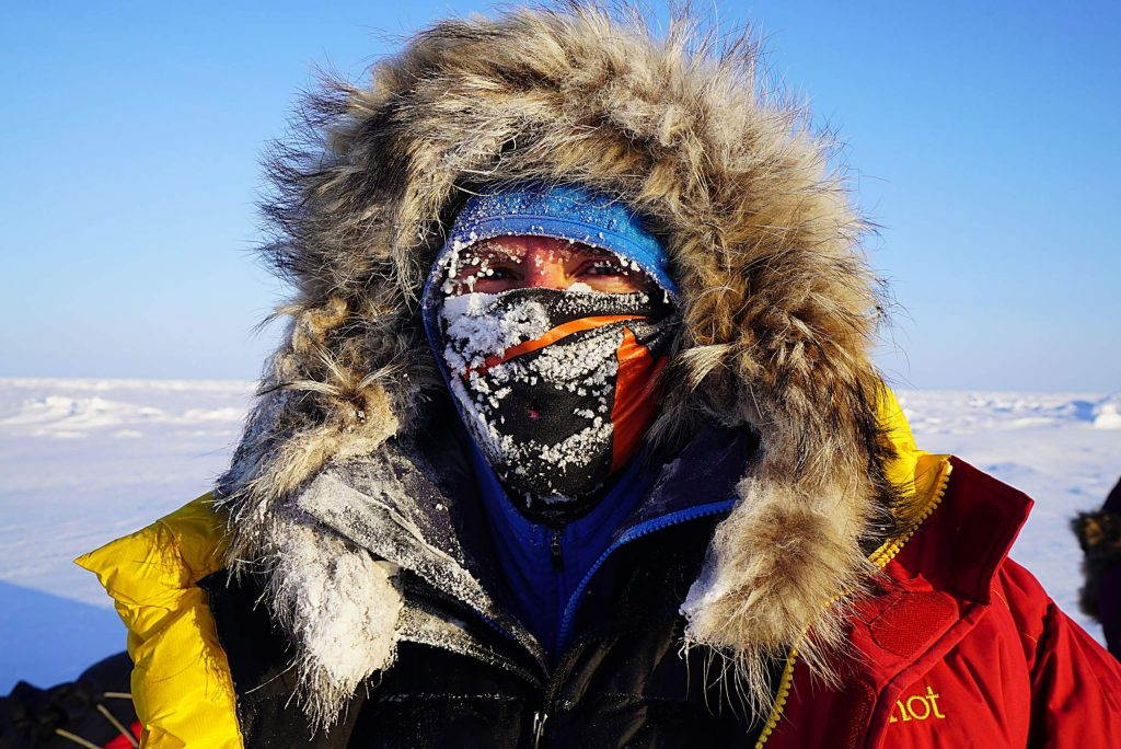 Sean Swarner treks to the North Pole in spring 2017. Swarner, a two-time cancer survivor with one functioning lung, also has been to the South Pole and completed the Seven Summits in addition to other athletic achievements.
