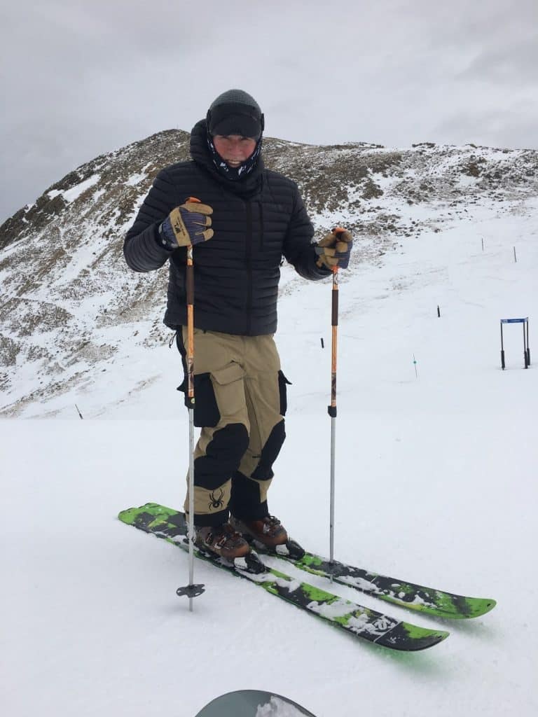 About nine weeks after Mike Shell's awake spinal fusion surgery, performed by Dr. Ernest Braxton in Vail, he was walking about three to five miles per day and expects to ski again in about a year.