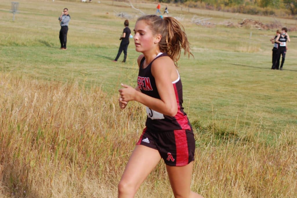 Aspen High School's Kylie Kenny competes at a cross country meet on Saturday, Sept. 26, 2020, in Craig.