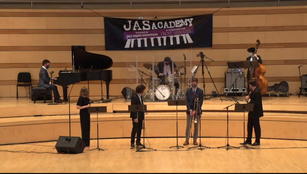 Students from the JAS Academy performing from the Benedit Music Tent in August.