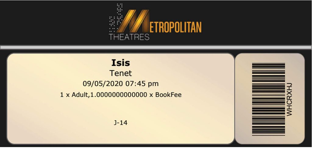 The Isis Theatre is issuing digital ticekts and QR codes for no-touch entrance to movies.