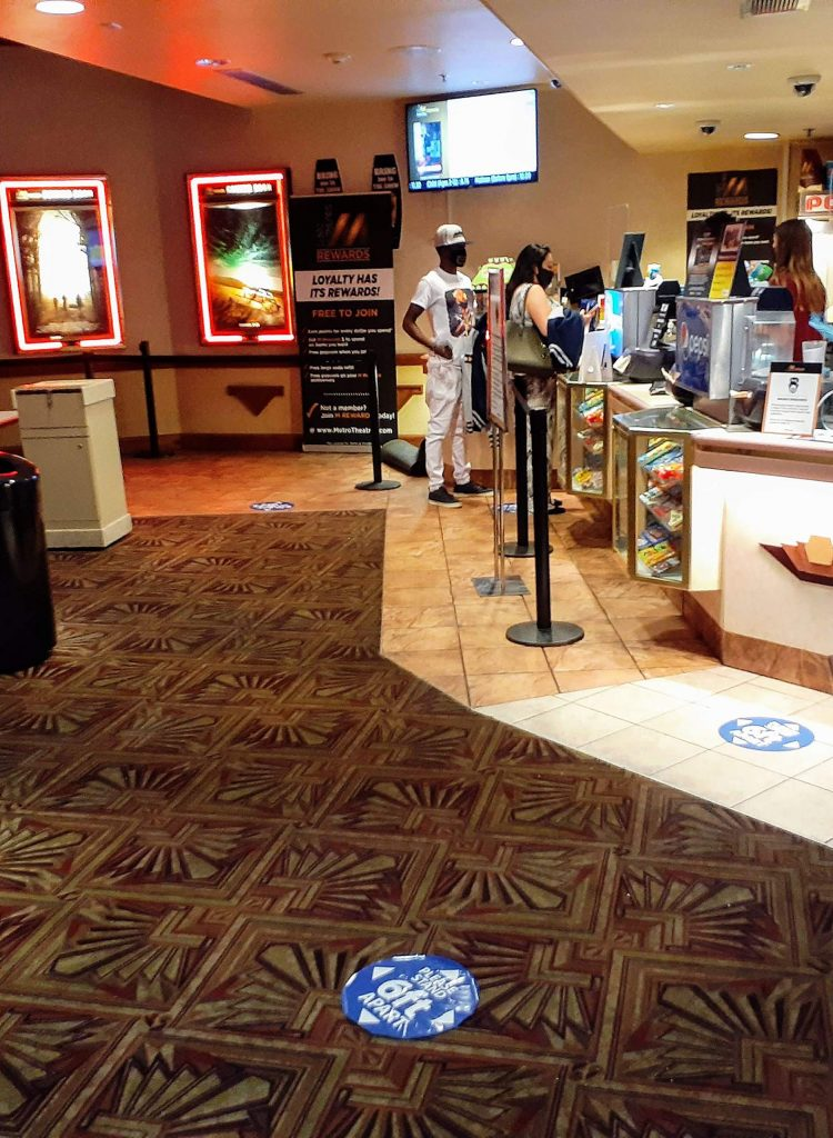 The lobby of the Isis Theatre on Saturday night over Labor Day weekend.