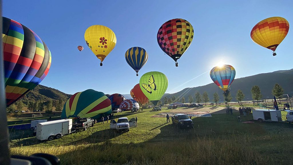 Pilots take off Saturday morning from Snowmass Town Park for the start of the 45th annual Snowmass Balloon Festival.