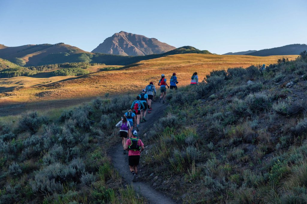 Racers take part in the Grand Traverse trail run on Saturday, Sept. 5, 2020, in Crested Butte.