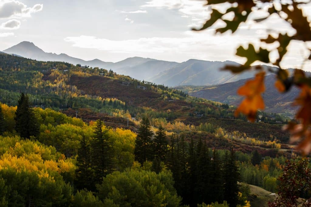 Mount Daly glows in the setting sun in Snowmass on Monday, Sept. 22, 2020.
