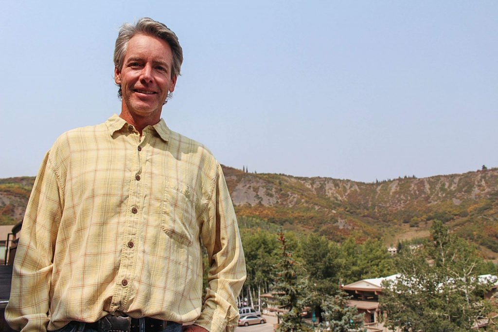 Bill Madsen, Snowmass mayor candidate, stands for a photo on the Snowmass Mall, Sept. 17, 2020.