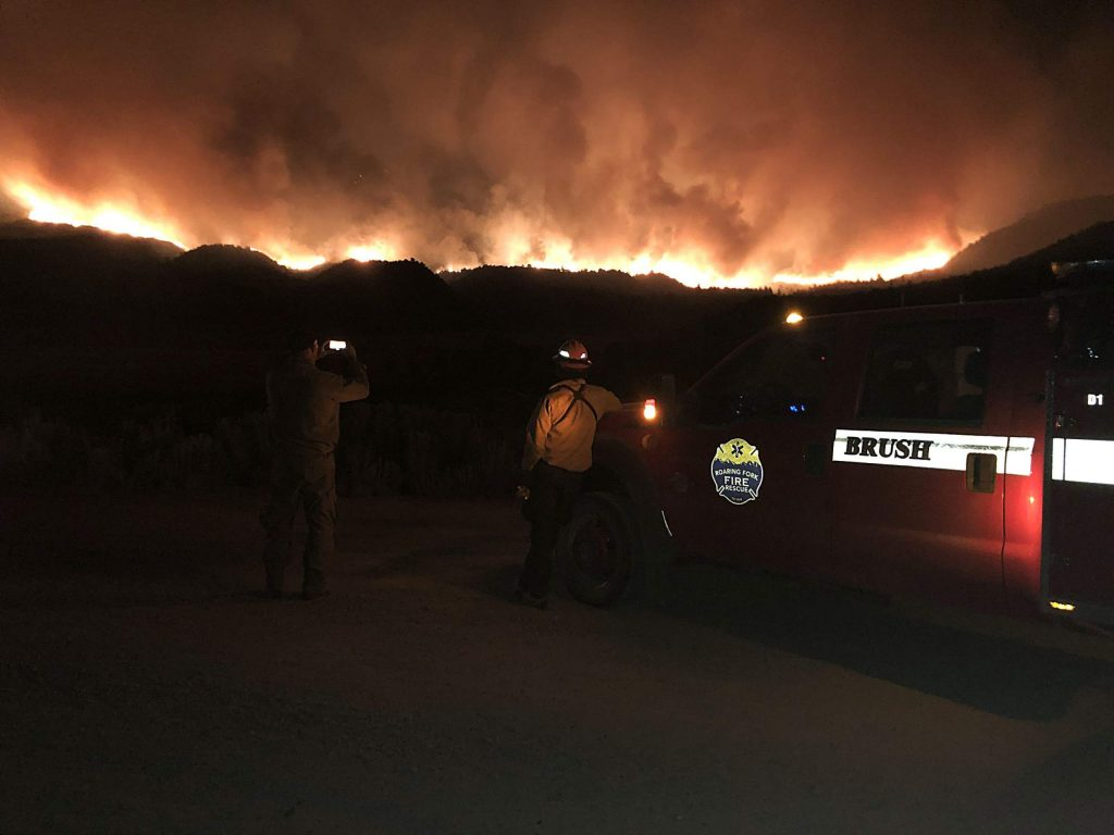 A photo from the frontlines of the Pine Gulch Fire near Grand Junction.