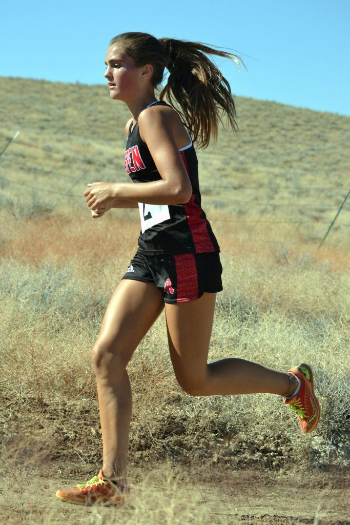 Aspen High School senior Kylie Kenny competes at a cross country meet on Saturday, Sept. 5, 2020, in Hotchkiss.