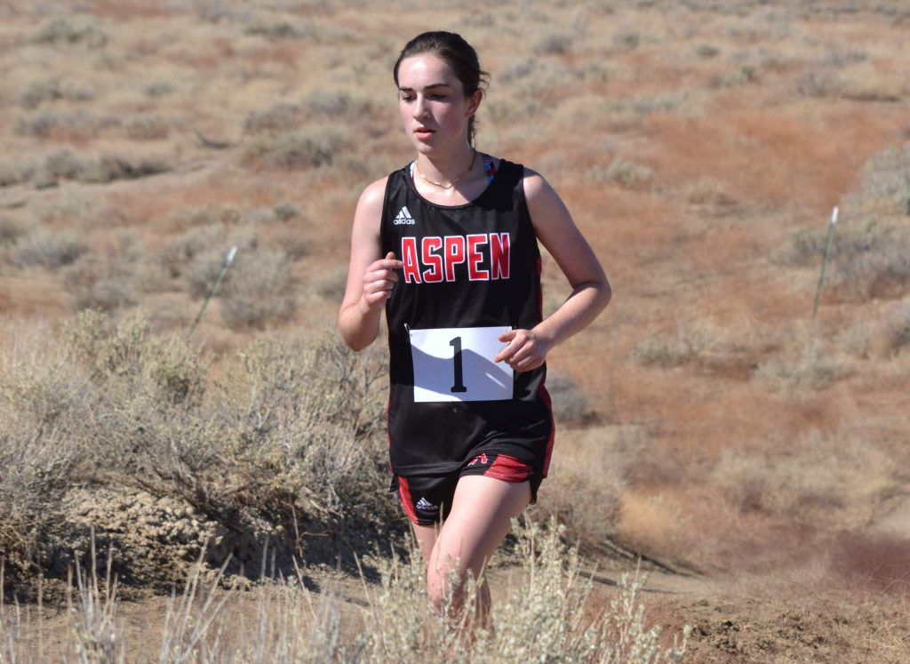Aspen High School senior Macy Hopkinson competes at a cross country meet on Saturday, Sept. 5, 2020, in Hotchkiss.