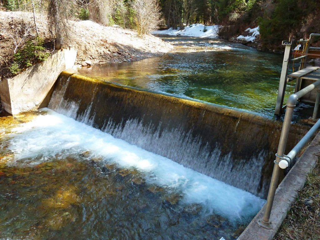 The city of Aspen has a diversion dam on Castle Creek, its main source of municipal water. The city is applying for a grant to install a stream gauge above the dam.