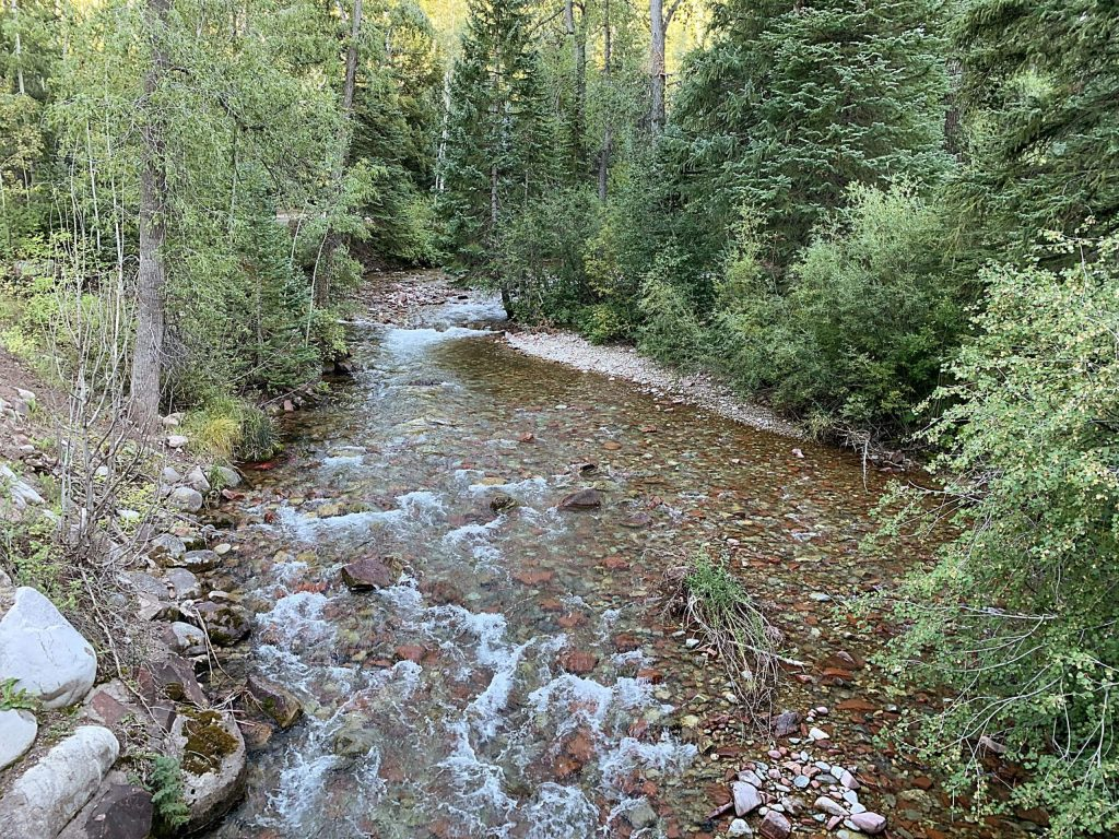 Castle Creek flows under the bridge on Midnight Mine Road, just above the city of Aspen's diversion. The city is applying for a grant to install a stream gauge near this stretch of river to measure streamflow in real time.