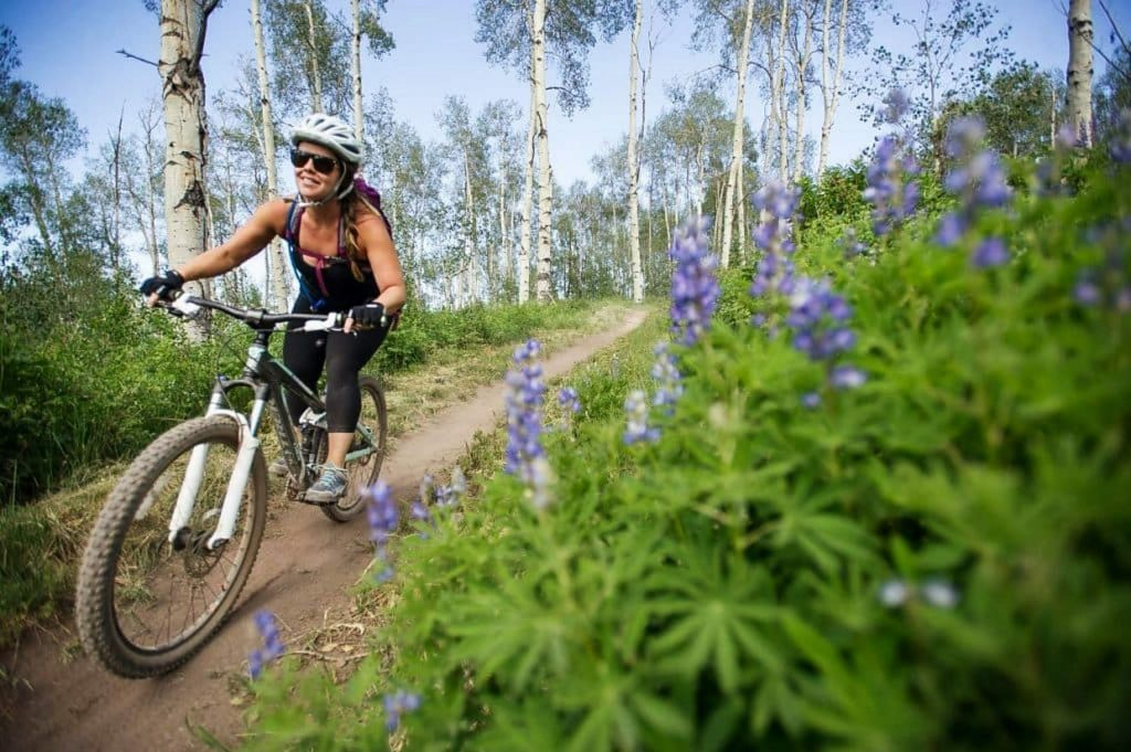 A rider takes to the trails in Snowmass Village.