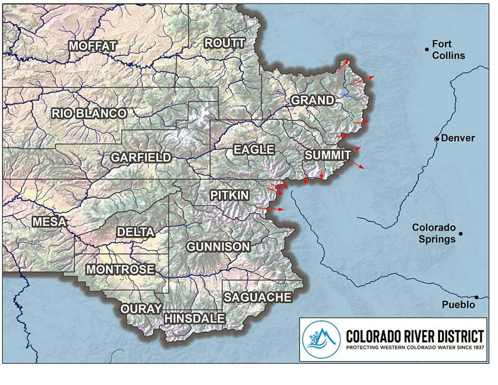 The Colorado River Water Conservation District spans 15 Western Slope counties. Voters across the district are considering a mill-levy increase that would raise the River District's budget by $5 million, funding a variety of water-related projects.