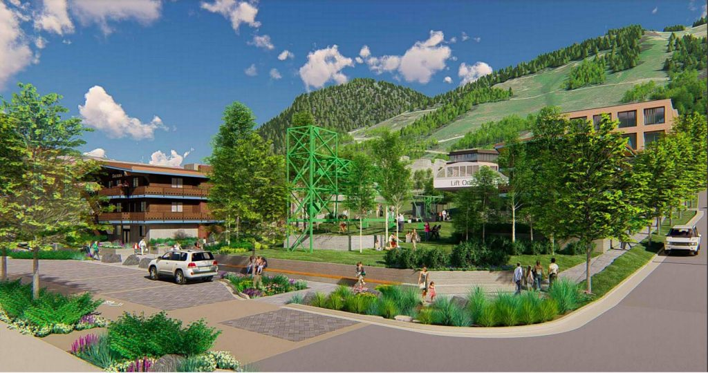 A view of what the Lift One base of Aspen Mountain will look like.