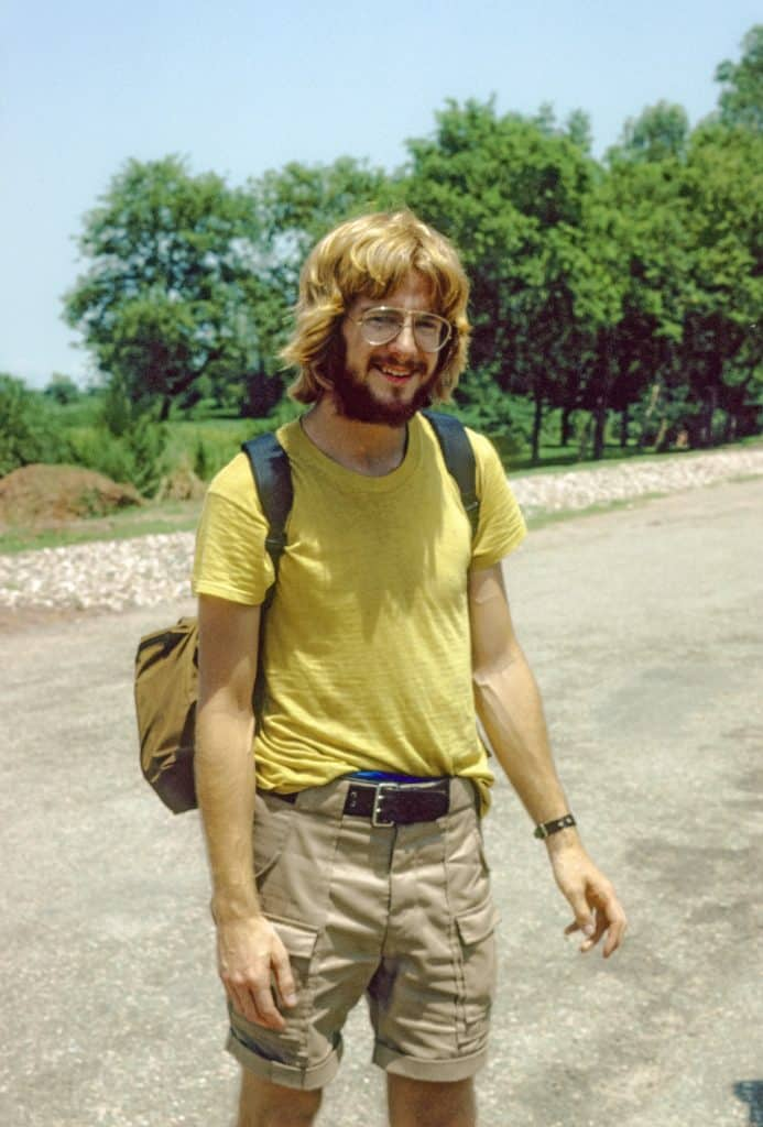 Rick Steves traveling in 1978.