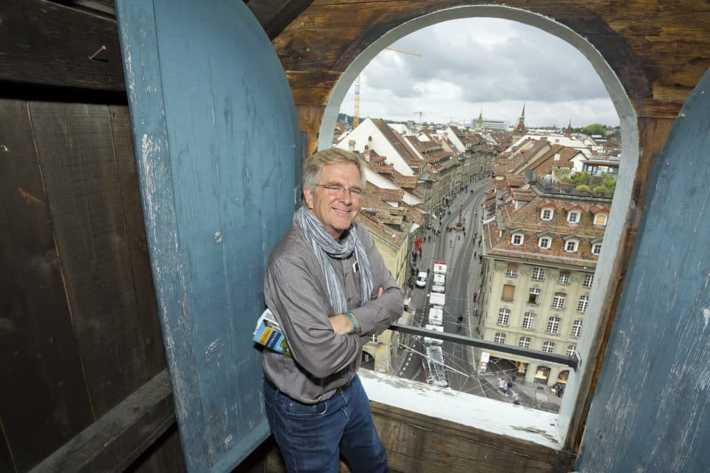 Rick Steves in Bern, Switzerland.