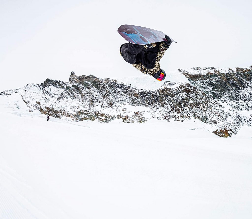 Winter Park native and Frisco resident Jason Wolle inverts above the superpipe at Stomping Grounds Park in Saas-Fee, Switzerland, during U.S. Ski & Snowboard Team preseason training in October.
