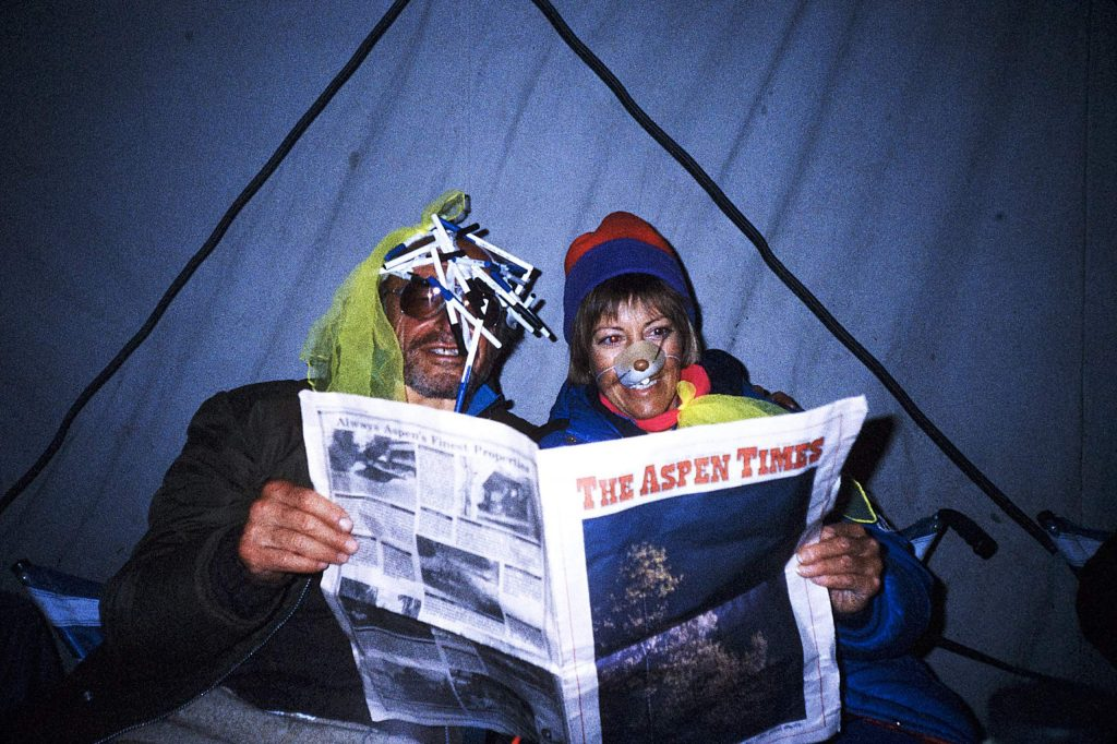 Reader Linda Koones submitted this photo from 1990 when she and Walter Ganz brought an Aspen Times to Dolpo, Nepal. Rare are Where's Your Aspen Times submissions since the pandemic struck, so feel free to dig up an old one and email it to rcarroll@aspentimes.com.