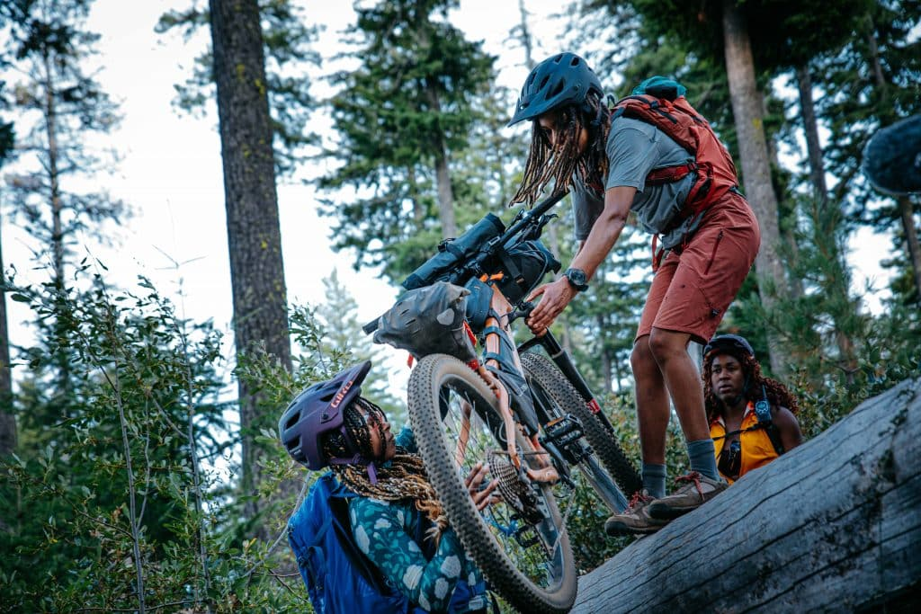 """""""Pedal Through,"""" a film about three young black women taking on a week-long bike packing adventure full of joy, healing, and mentorship with mother nature in Oregon's backcountry"""
