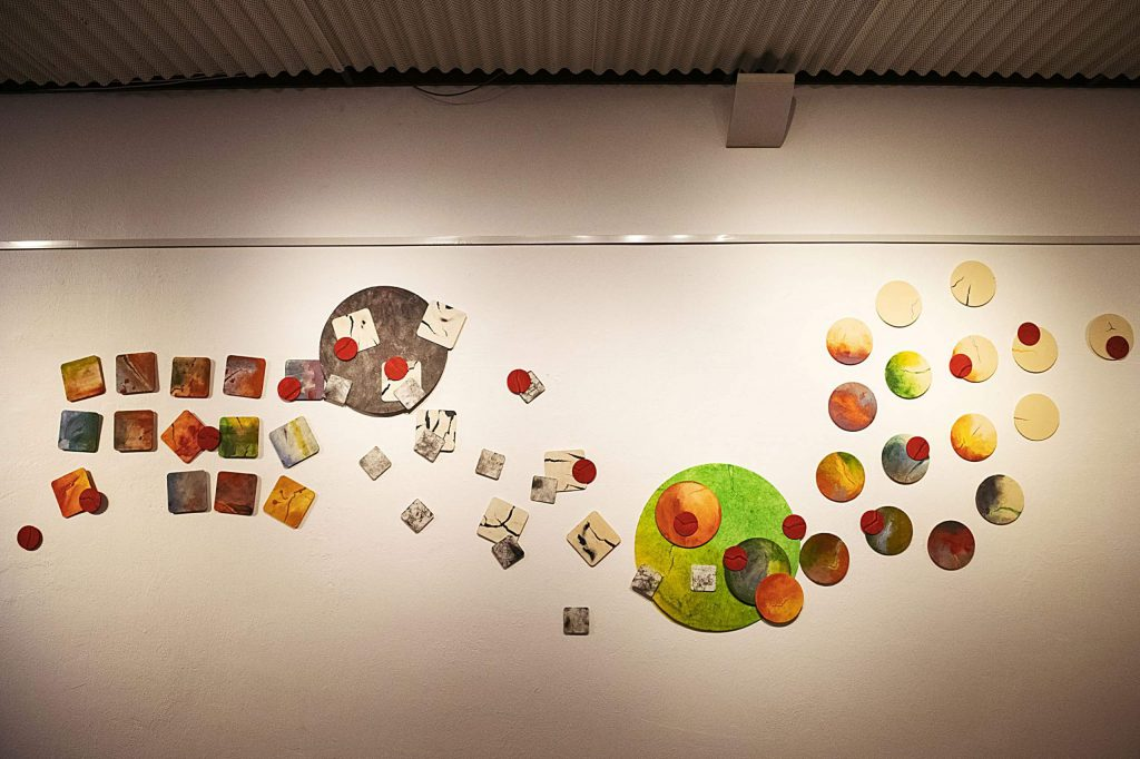 A piece by Deborah Jones hangs in the Red Brick Center for the Arts show on Wednesday, Sept. 30, 2020. (Kelsey Brunner/The Aspen Times)