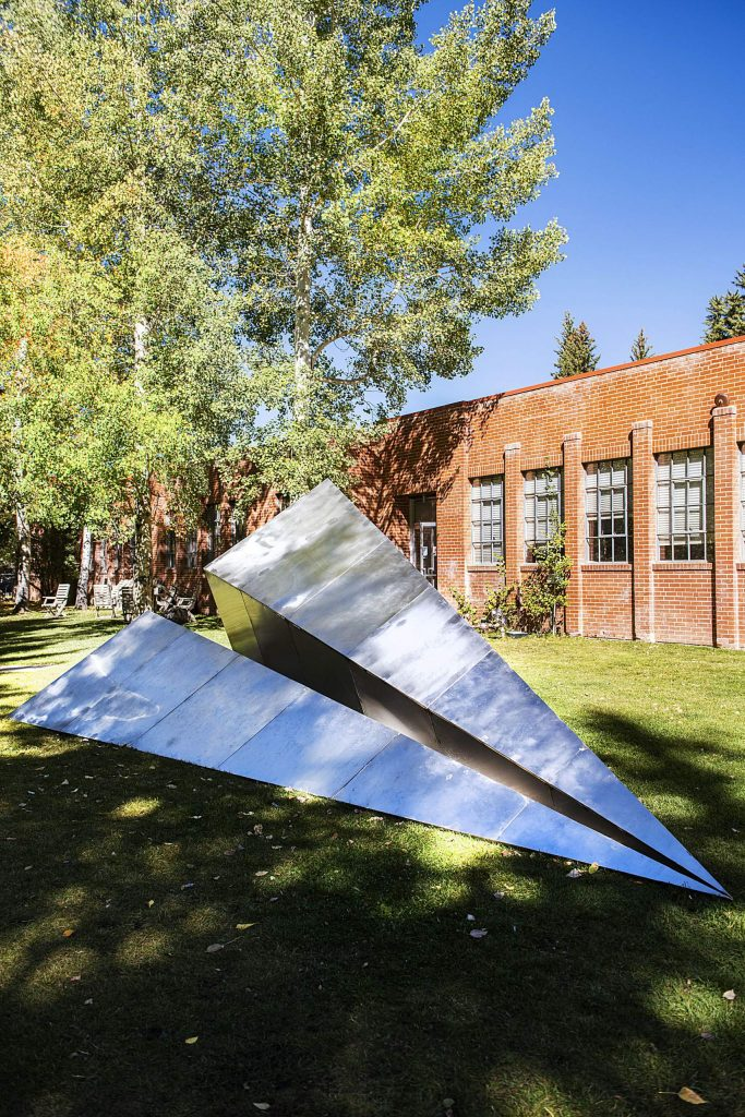 Griffin Loop's outdoor sculpture is displayed on the lawn of the Red Brick Center for the Arts on Wednesday, Sept. 30, 2020. (Kelsey Brunner/The Aspen Times)