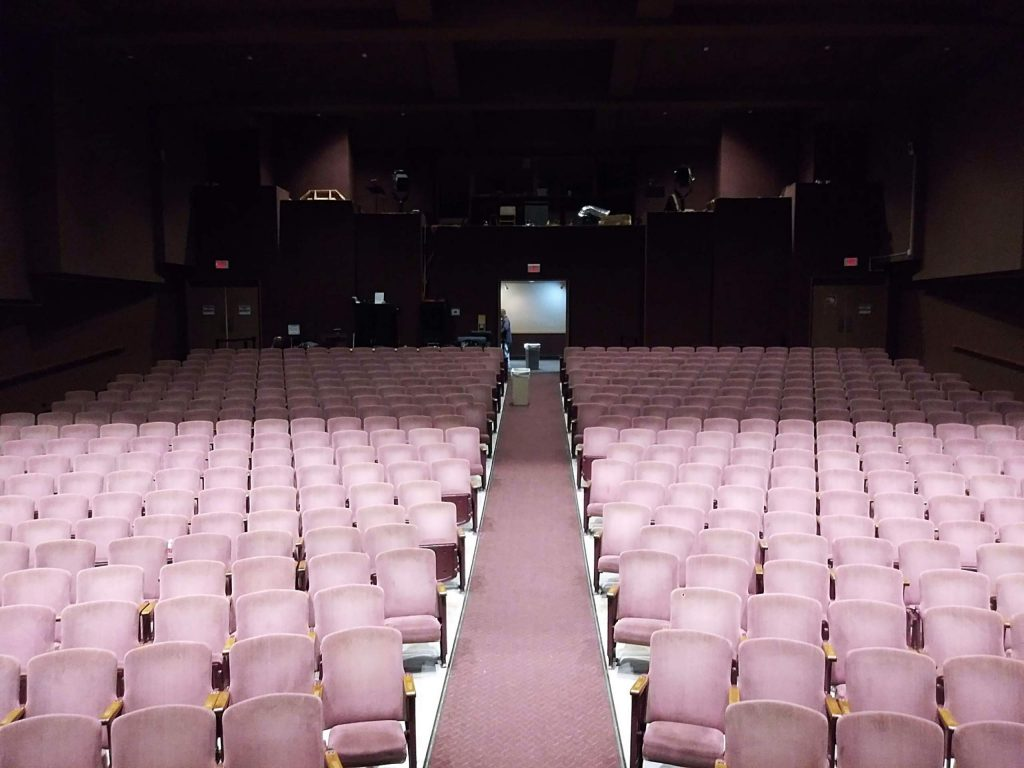 The view from the stage before showtime.