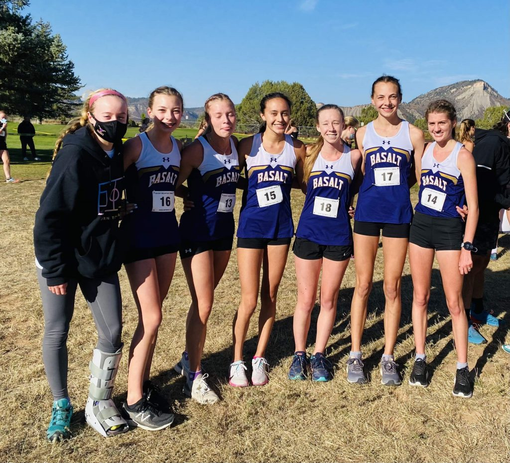 The Basalt High School girls cross country team finished second in the Class 3A, Region 1 race on Friday, Oct. 9, 2020, at Hillcrest Golf Club in Durango.
