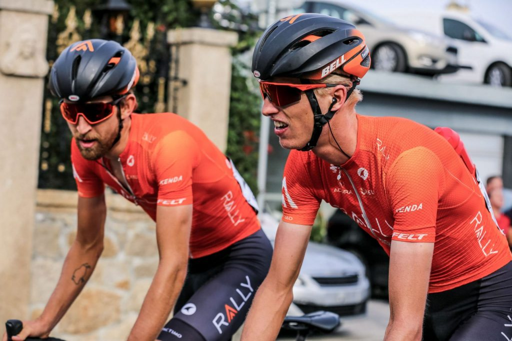 Aspen's Keegan Swirbul, right, competes in the Volta a Portugal earlier this fall for Rally Cycling, finishing 15th in the general classification. Earlier this month, Swirbul signed a two-year contract to continue racing for the team.