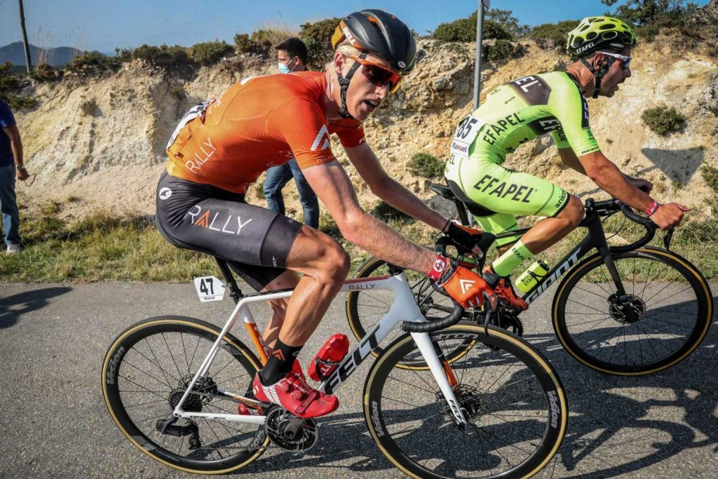 Aspen's Keegan Swirbul competes in the Volta a Portugal earlier this fall for Rally Cycling, finishing 15th in the general classification. Earlier this month, Swirbul signed a two-year contract to continue racing for the team.