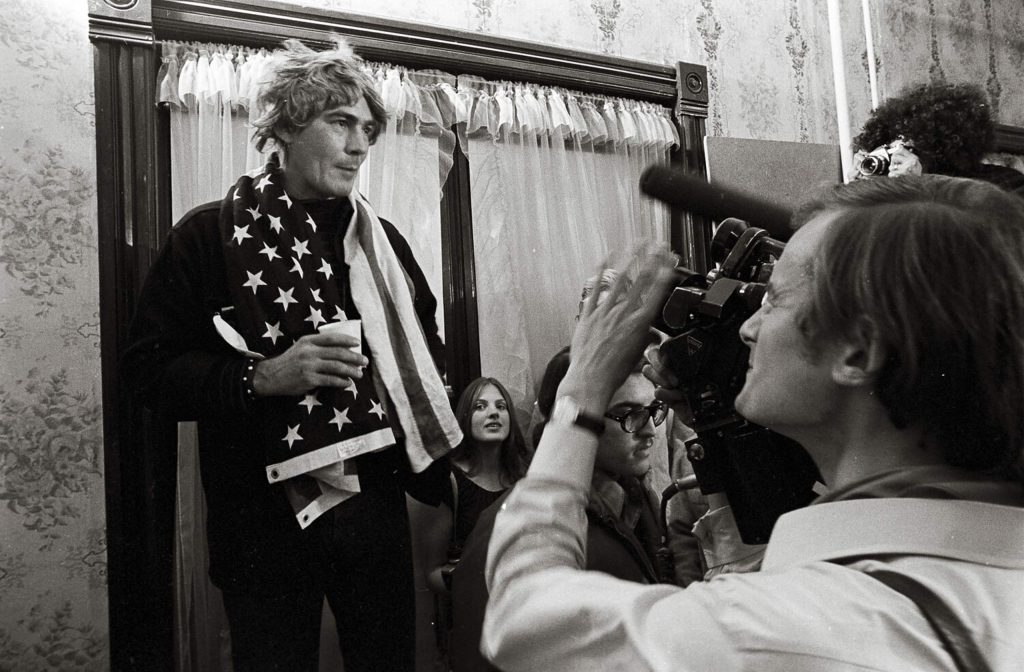 Hunter S. Thompson giving his concession speech at the Hotel Jerome on Election Night 1970 in the new documentary