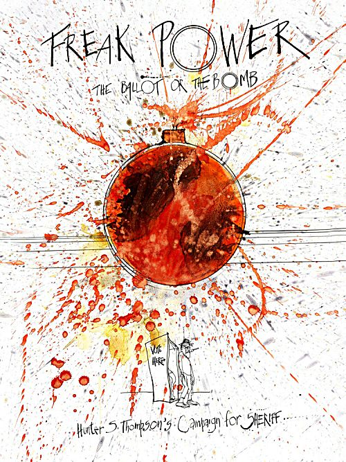 The Ralph Steadman-designed poster for