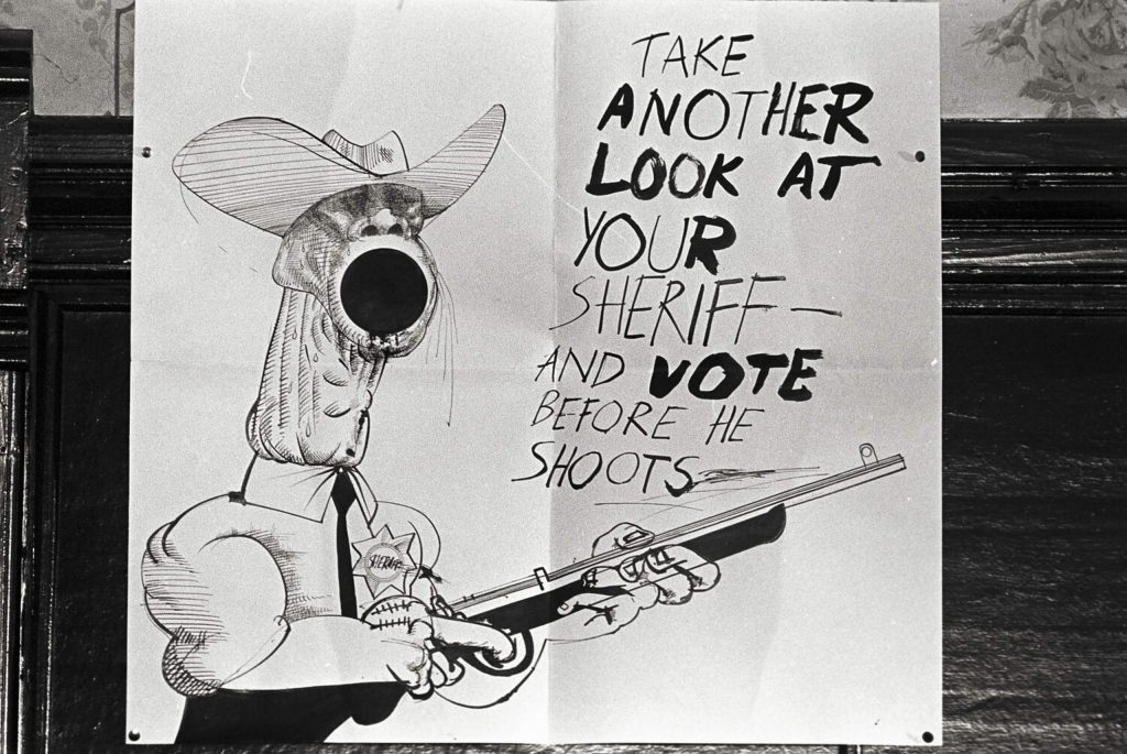 Illustrator and frequent Thompson collaborator Ralph Steadman's 1970 campaign poster.