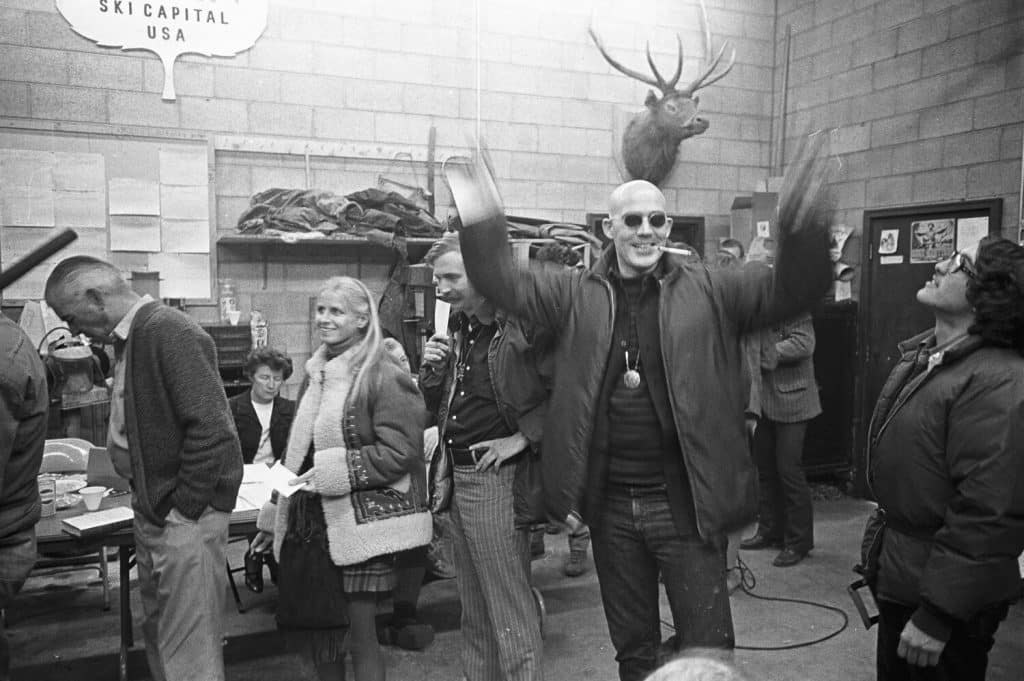 Thompson at his polling place in Aspen on Election Day 1970.