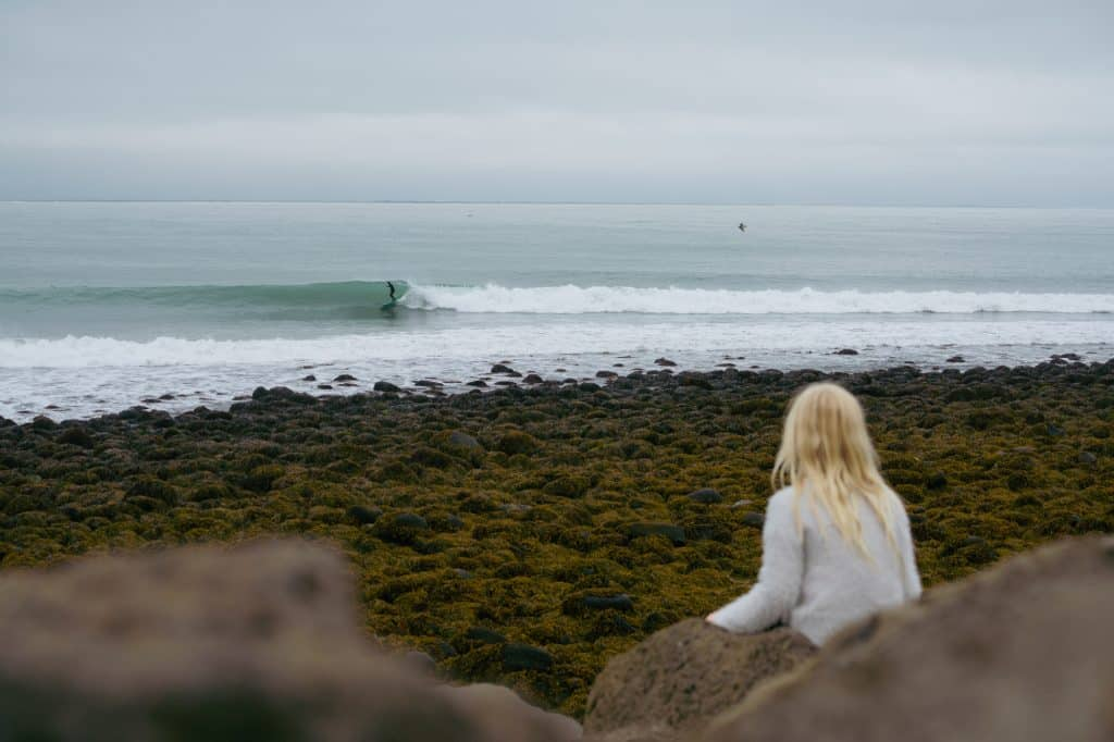 """Photo by Chris Burkard """"Unnur,"""" a film that tells a beautiful story of an Icelandic photographer and surfer's life with his daughter."""