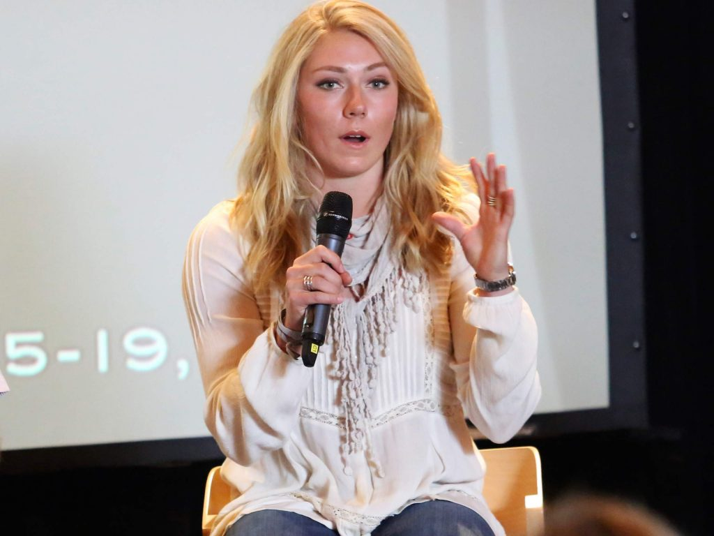 Mikaela Shiffrin discusses the 2017 FIS World Cup Finals, hosted by Aspen, during a panel at Buttermilk Ski Area in the fall of 2016. (Photo by Austin Colbert/The Aspen Times)