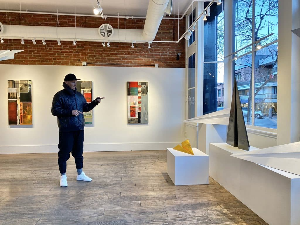 """Artist Griffin Loop speaks to his """"Launch Intention"""" works including the smaller scale versions at Sky Gallery."""
