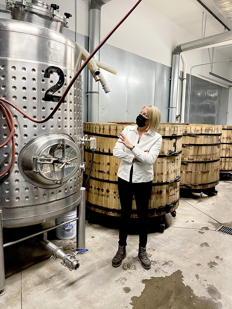 Connie Baker, co-founder and head distiller at Marble Distilling Co.