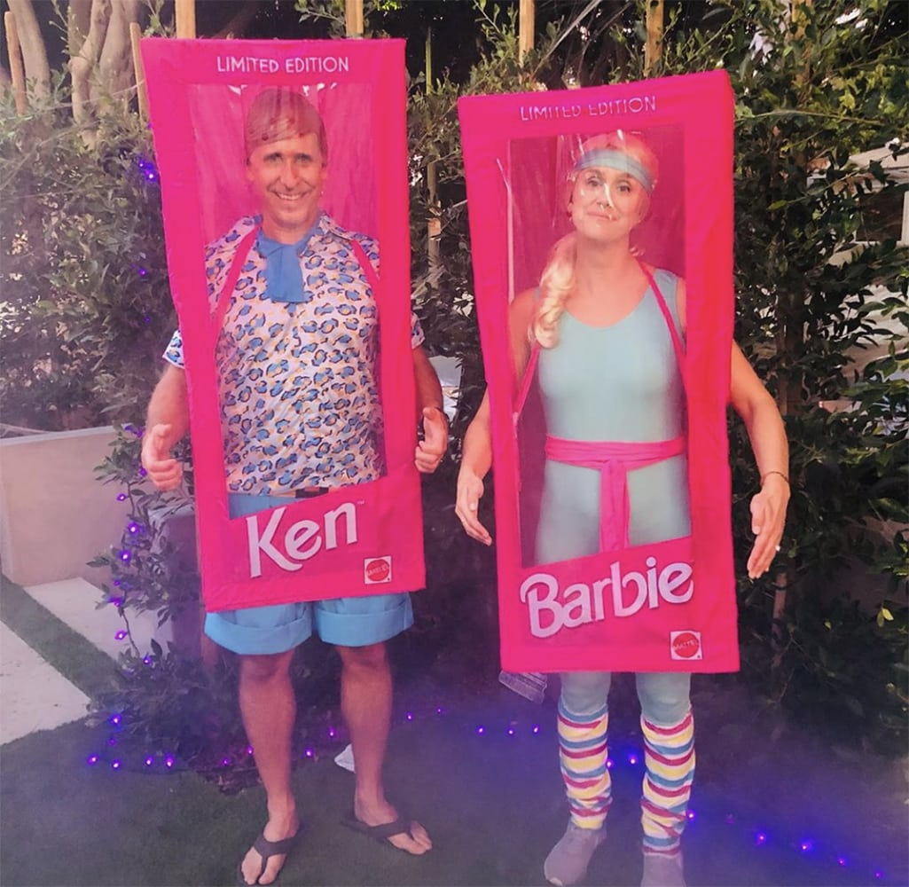 Christian Kennel and Meagan Westhoven (formerly of Aspen) in California as Ken and Barbie this Halloween.