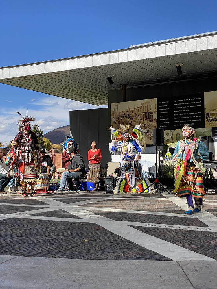 Leading up to Indigenous Peoples Day in October, the Aspen Indigenous Foundation presented a performance for the public on the Aspen Sister Cities Plaza.