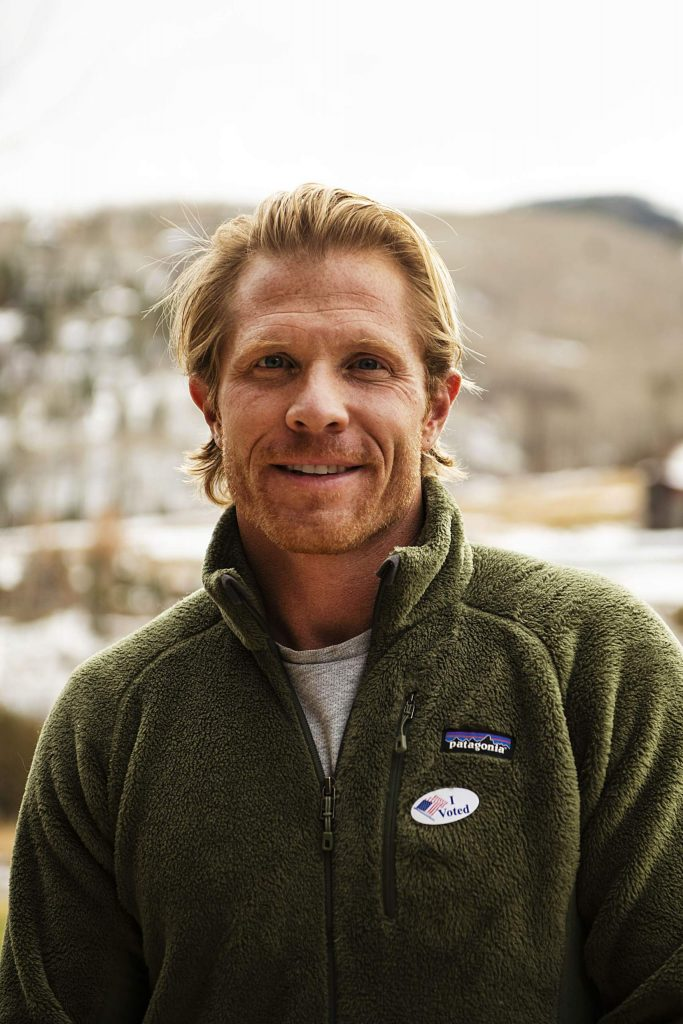 Matthew Tate after voting on Election Day in Snowmass on Tuesday, Nov. 3, 2020. (Kelsey Brunner/The Aspen Times)