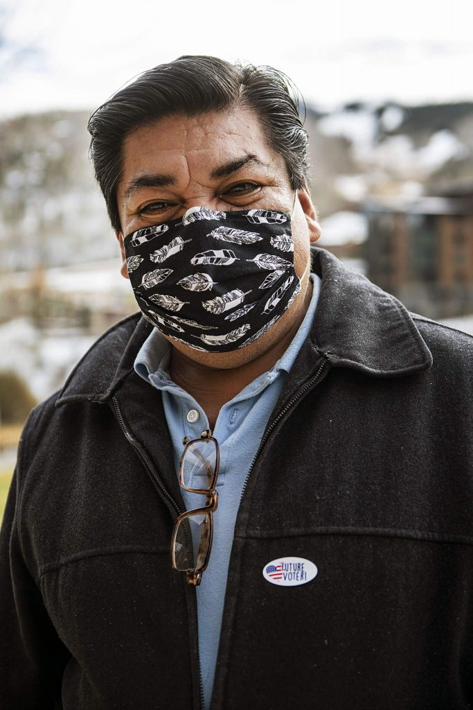 Reyno Dolores after voting on Election Day in Snowmass on Tuesday, Nov. 3, 2020. (Kelsey Brunner/The Aspen Times)